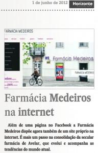 Notícia Farmácia Medeiros Jornal Horizonte Junho 2012